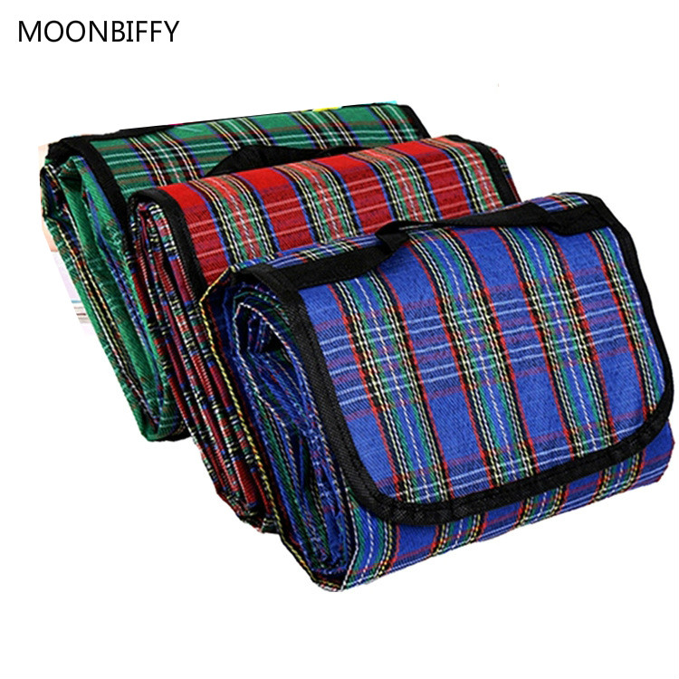 150x200cm Camping Mat Plaid Picnic Blanket Foldable Baby Climb Outdoor Waterproof Beach Blanket for Multiplayer Picnic