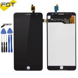 Panel dotykowy dla Alcatel One Touch Pop gwiazda 3G OT5022 OT 5022 OT 5022 5022X 5022D wyświetlacz LCD ekran dotykowy kompletnego zespołu w Ekrany LCD do tel. komórkowych od Telefony komórkowe i telekomunikacja na