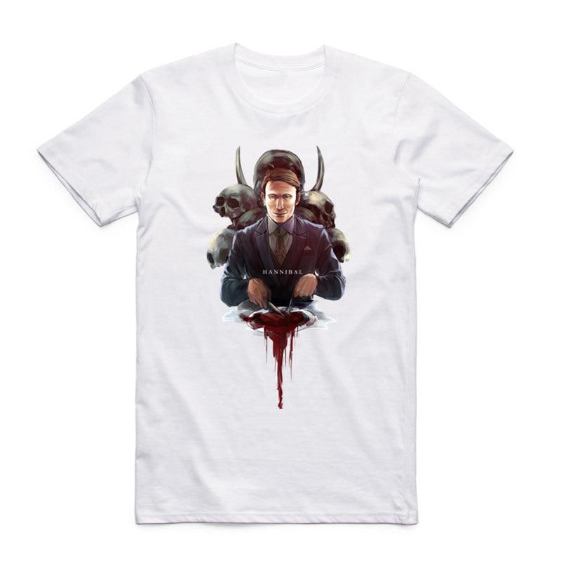 Men And Women Print America Drama Hannibal T Shirt O Neck Short Sleeve Summer Casual