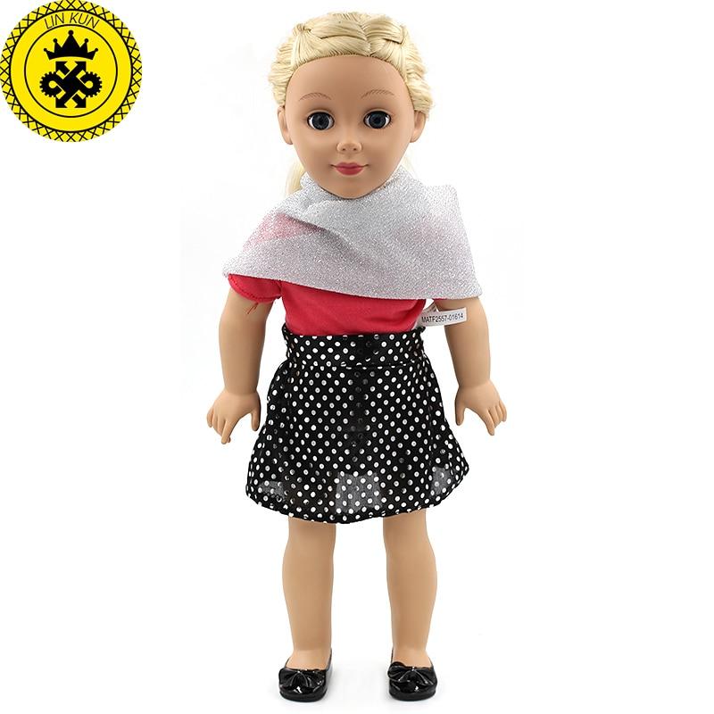 NºAmerican Girl Doll plata bufanda + vestido negro falda set ropa ...