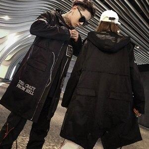Image 4 - Aelfric Eden ยาว Trench Gothic แจ็คเก็ตชาย 2019 Hip Hop Hooded Windbreaker แจ็คเก็ตเสื้อแฟชั่น Streetwear Swag เสื้อกันหนาว