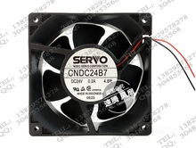 New original CNDC24B7R 24V 4.8W 12cm12038 inverter fan ultra strong wind original 24v 8cm 1 63a pfb0824dhe four wire pwm inverter fan