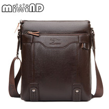 MIWIND Fashion Genuine Leather Men's Messenger Bags Man Portfolio Office Bag Quality Travel Shoulder Handbag for Man AA 3