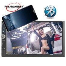 """Nuovo 7 """"2 DIN Auto Radio MP4 MP5 Giocatore Dello Schermo di Tocco di Bluetooth Stereo FM TF USB di controllo del volante specchio Link Per Andriod"""