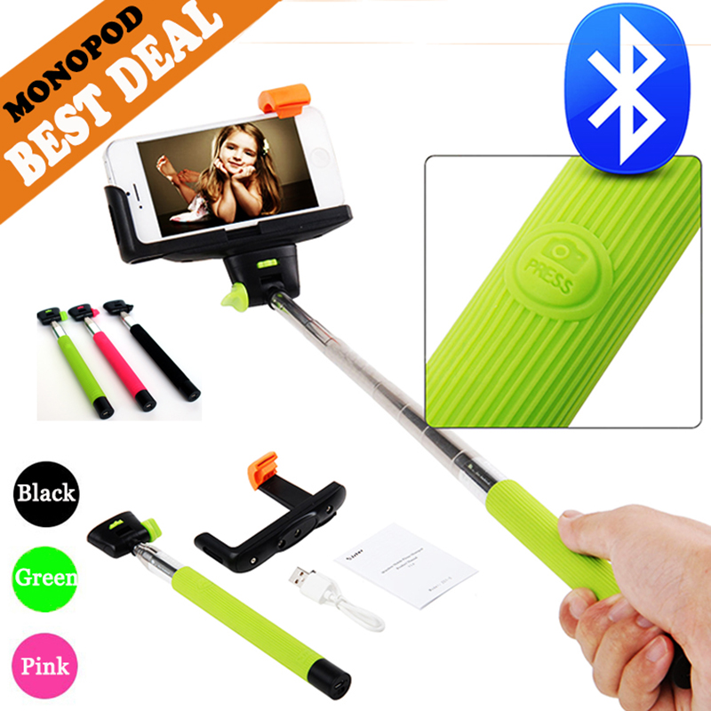 EASTTOWEST Z07-5 Bluetooth Selfie Stick Palo Selfie Extendable Handheld Self-Portrait Monopod For Xiaomi Iphone Samsung Huawei kjstar z07 5 black