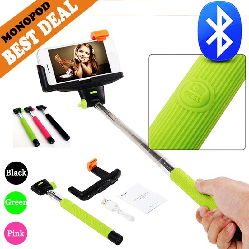 Easttowest Z07-5 Bluetooth selfie stick palo selfie monopod handheld extensible del autorretrato para el iPhone del xiaomi Huawei
