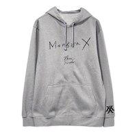 ALIPOP Kpop MONSTA X GLANZ FÜR IMMER Album Hoodie Mit Hut Hip Hop Hoodies Kleidung Pullover Gedruckt Langarm Sweatshirts WY480