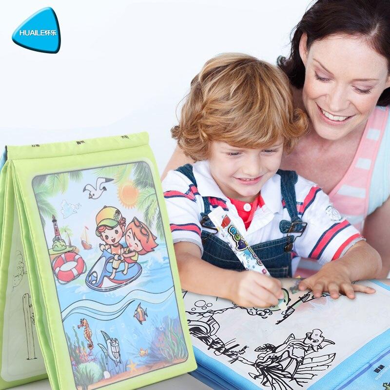 HUAILE Copii Magic de apă de desen carte cu 1 Magic Pen Cartoon - Învățare și educație