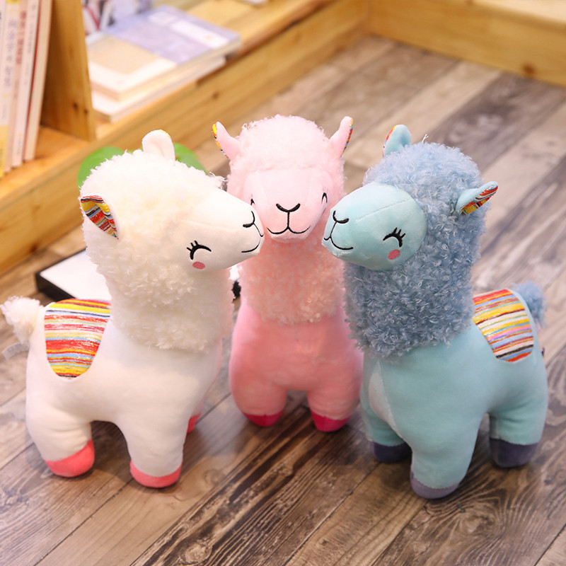 Lovely 25/35cm Alpaca Llama Plush Toy Doll Animal Stuffed Animal Dolls Soft Plush Alpaca For Kids Birthday Gifts 4 Colors