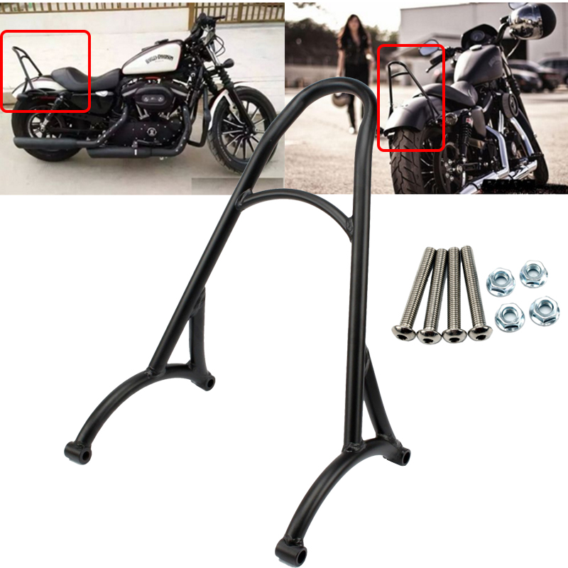 Passenger Backrest Sissy Bar for Harley Sportster 48 72 XL 883 1200 Roadster Nightster Custom XL1200C Iron Low Superlow XL883R mtsooning timing cover and 1 derby cover for harley davidson xlh 883 sportster 1986 2004 xl 883 sportster custom 1998 2008 883l