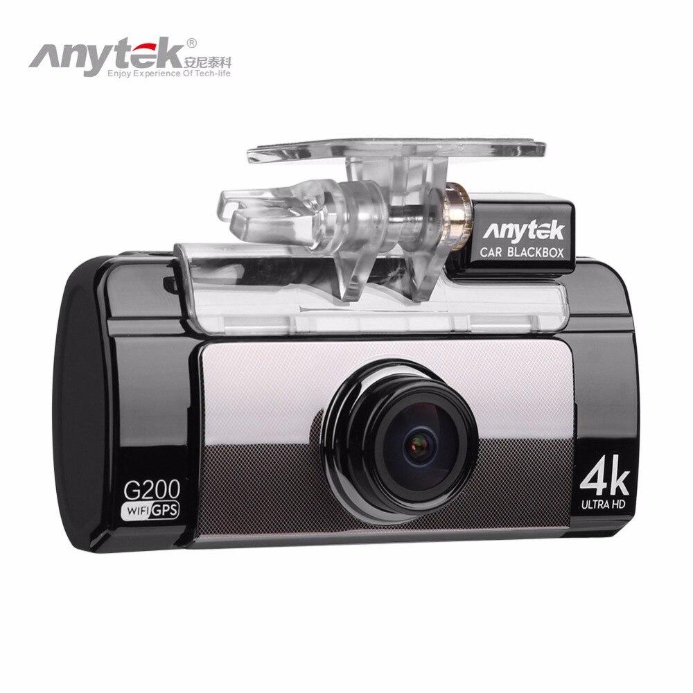 Anytek G200 2.7in 4 karat UHD Auto DVR Touch Spiegel Recorder Dashcam Nachtsicht WIFI Rückspiegel Kamera GPS dual Objektiv Dash Cam
