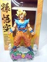 Figura Dragon Ball Goku Figura Cepillo MSP Super Saiyan PVC 24 CM Figura de Acción de Dragon Ball Z DBZ DragonBall Z
