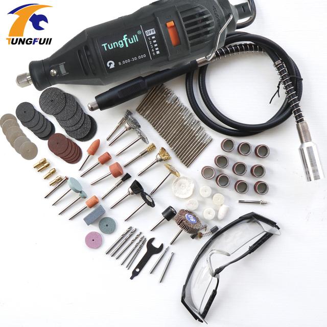 75pcs Polishing Top 30pcs Burs-level Kits Dremel Style MultiPro Drill Carving Pen Soft Shaft Accessories