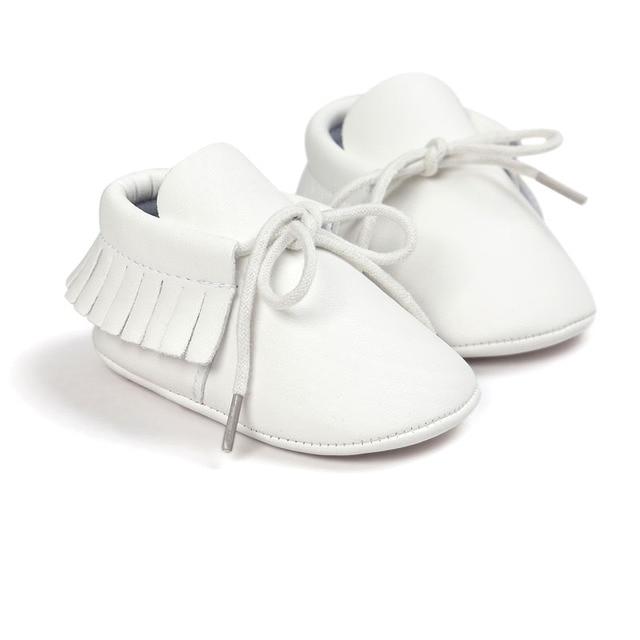 Zapatos bebé Londres blanco 1