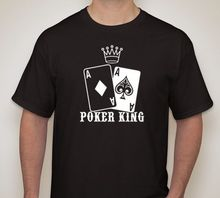 POKER KING AA Pocket Aces T shirt Texas Hold em Gambling Gaming Print T-Shirt Summer Style Men O-Neck Tee Shirt