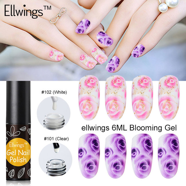 Aliexpress.com: kup Ellwings Blossom Gel Nail Polish White Clear ...