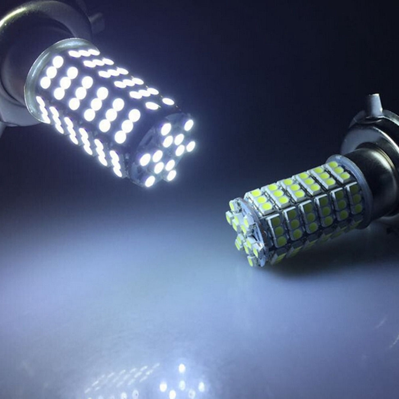 2pcs car led fog lamp H7 120 led smd 3528 120smd led light bulb lamp WHITE