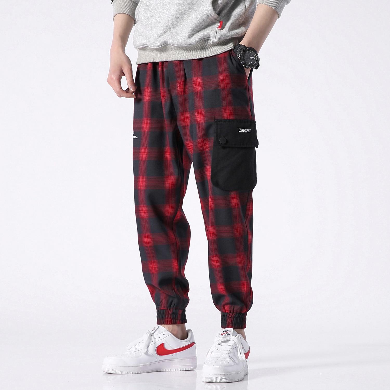 Hip 4xl Plaid Patchwork Black Modo Da red Streetwear Pantaloni Tuta Harem  green Pant Hop Della Uomo Di 5xl Casual Maschili nxXZwpI8qf 1d05dd521ef7