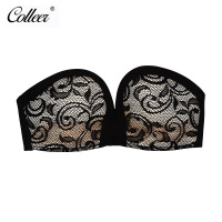 COLLEER Women Invisible Bra Sexy Strapless Fly Bra Wire Free Push Up Backless Bra Lace Bralette