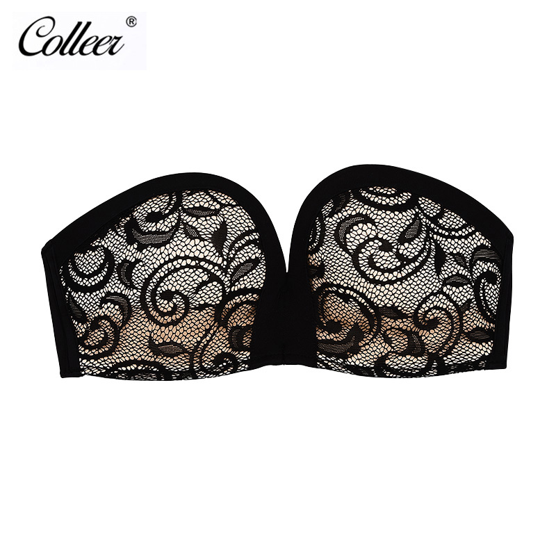 COLLEER Women Invisible Bra sexy strapless fly bra wire free push up backless bra lace bralette Seamless brassiere soutien gorge