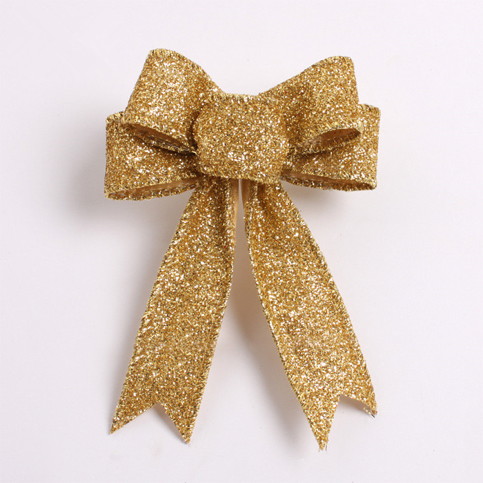 Christmas Tree Bows Decorations: Gold Silver Christmas Tree Garland Bow 20 Pcs/lot