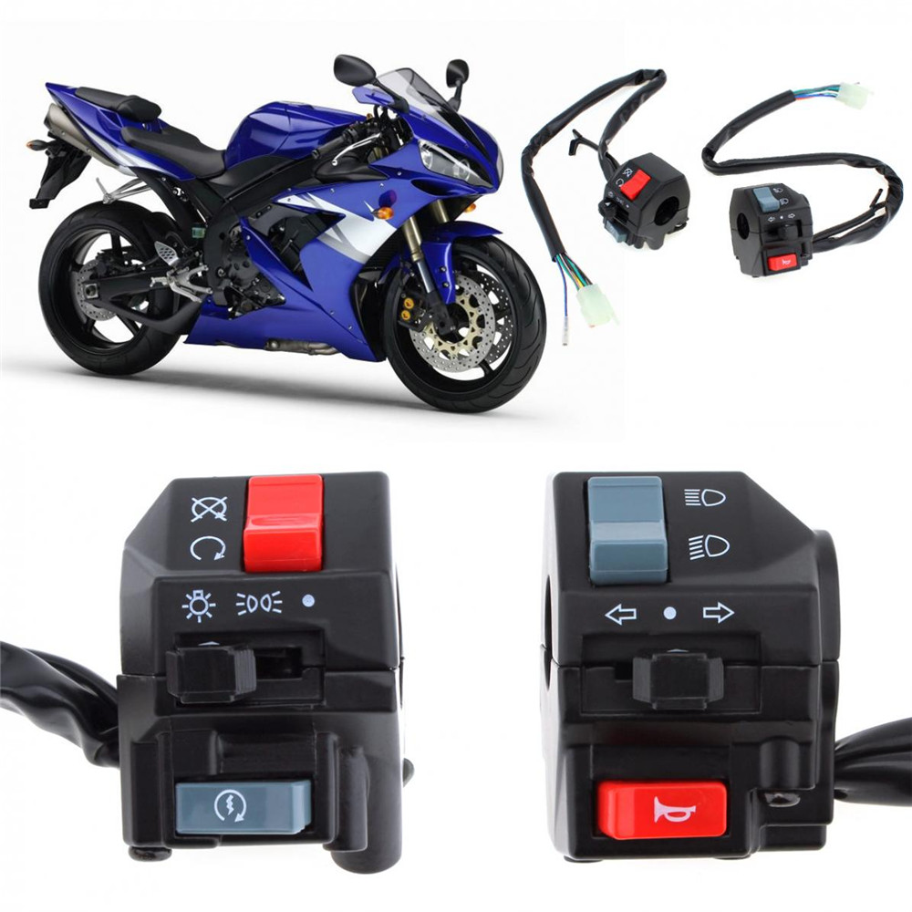 Hot 2pcs Universal 7 8inch Motorcycle Handlebar Horn Turn Signal Light Controller Switch On Off Button