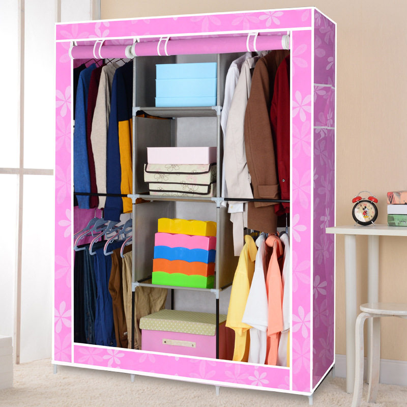 FREE Shipping Non-Woven  Wardrobe Closet Large And Medium-Sized Cabinets Simple Folding Reinforcement Receive Stowed Clothes simple fashion moistureproof sealing thick oxford fabric cloth wardrobe rustproof steel pipe closet 133d