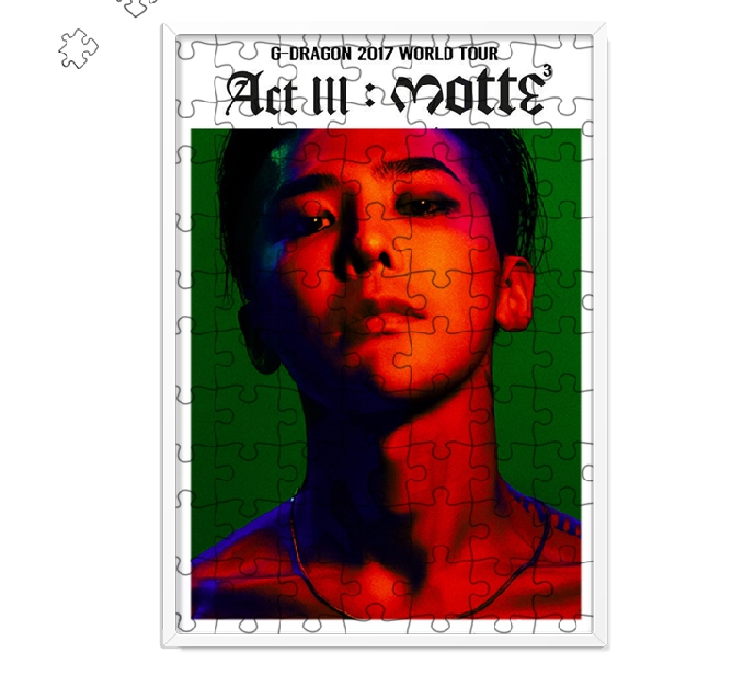 New kpop ACT III MOTTE BIGBANG GD The Same 120 piece Diy Puzzle With frame 300*210mm
