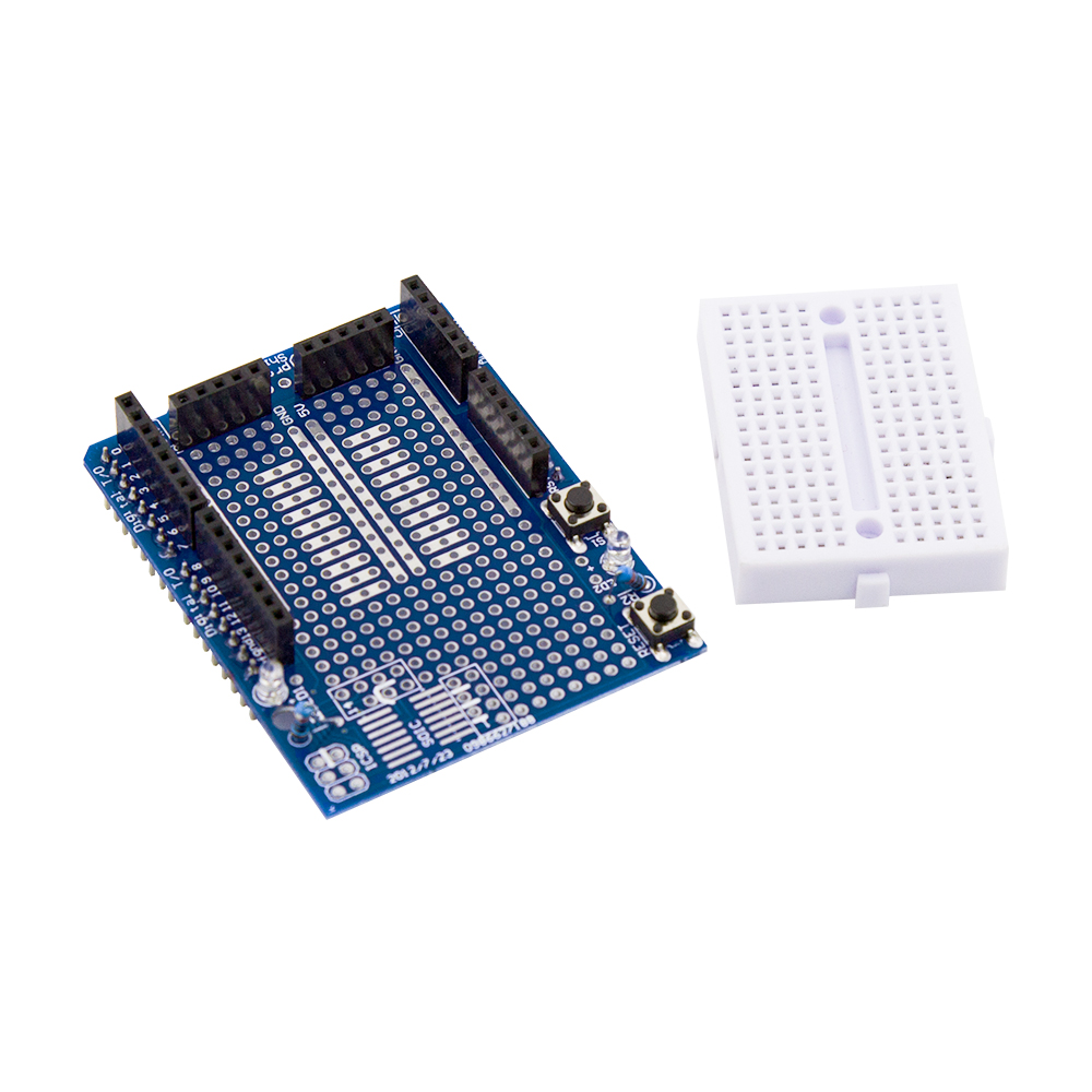Uno Mega2560 Proto Shield Prototype V3 With Min Arduino Circuit Board Prototypes Mega Protoshield Expansion Immersion Gold Pcb Processing Technology Motherboards Small Square Pad Spacing