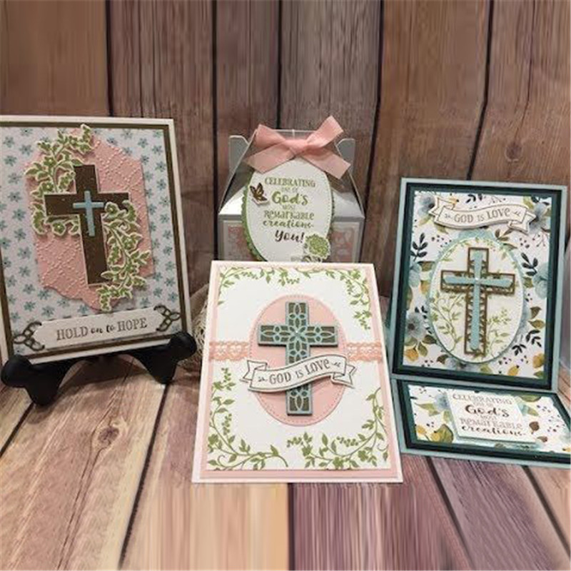 DiyArts Crosses Religious Metal Cutting Dies Scrapbooking Craft Dies Frame Card Making Album Embossing Stencil New Dies for 2019