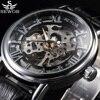SEWOR Luxury Top Brand Mechanical Watch Skeleton Watches Men Casual Clock Leather Fashion Wristwatches Erkek Kol