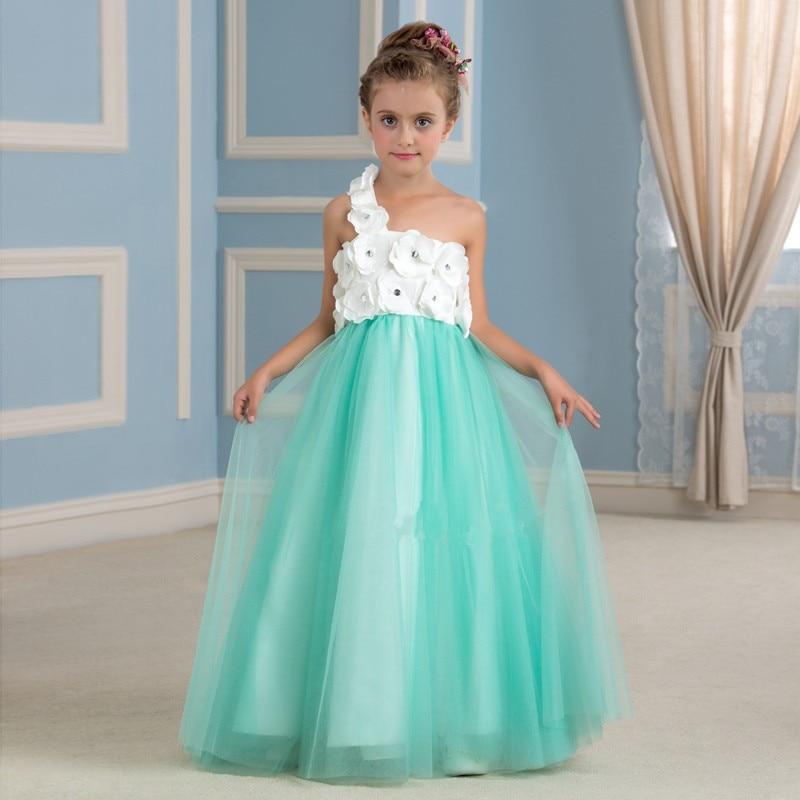 2016 Design Turquoise Flower Girl
