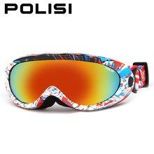 Polisi invierno niños niños anti-vaho gafas de motos de nieve ski snowboard skate goggles gafas uv400 esqui esquí deporte al aire libre eyewear
