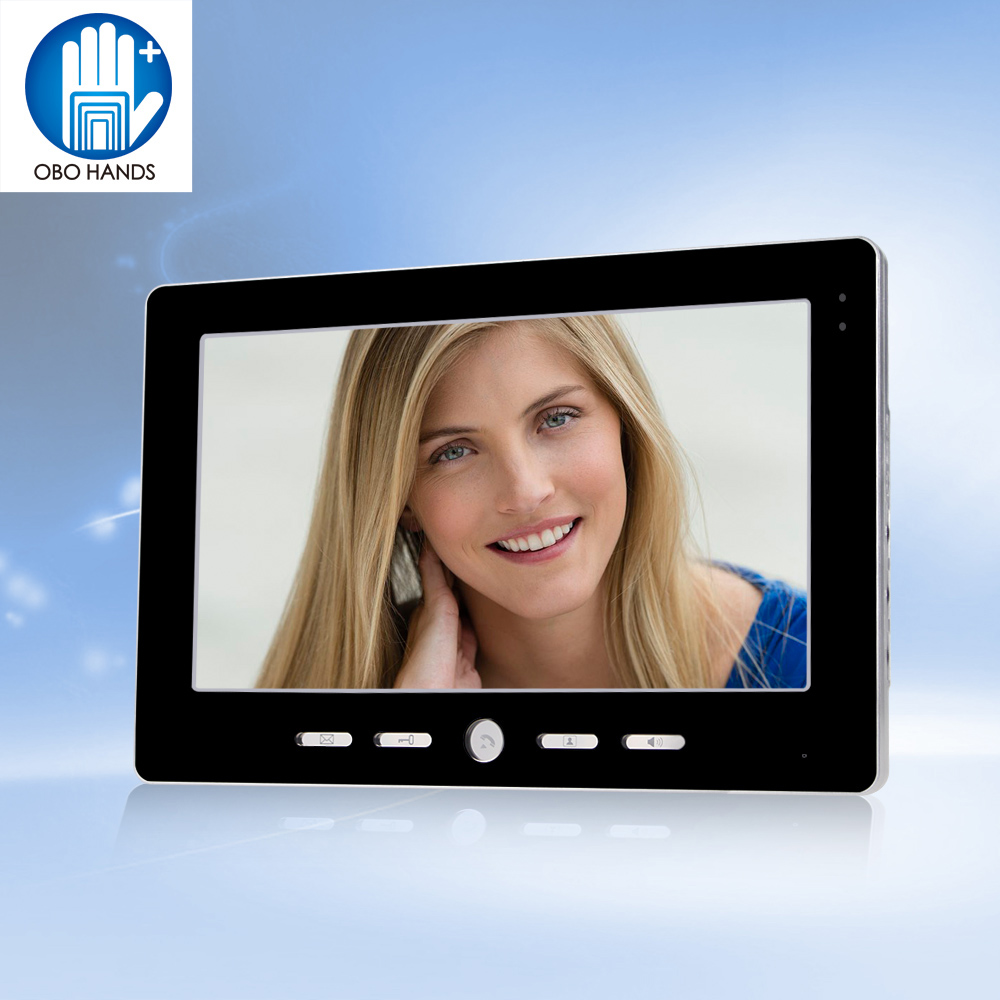 10 inch TFT Color Video Intercom System Door Phone Indoor Monitor Scree Without IR Outdoor Camera Doorbell For DIY Private House 7inch video door phone intercom system for 10apartment tft lcd screen 10 flat indoor monitor night vision cmos outdoor camera