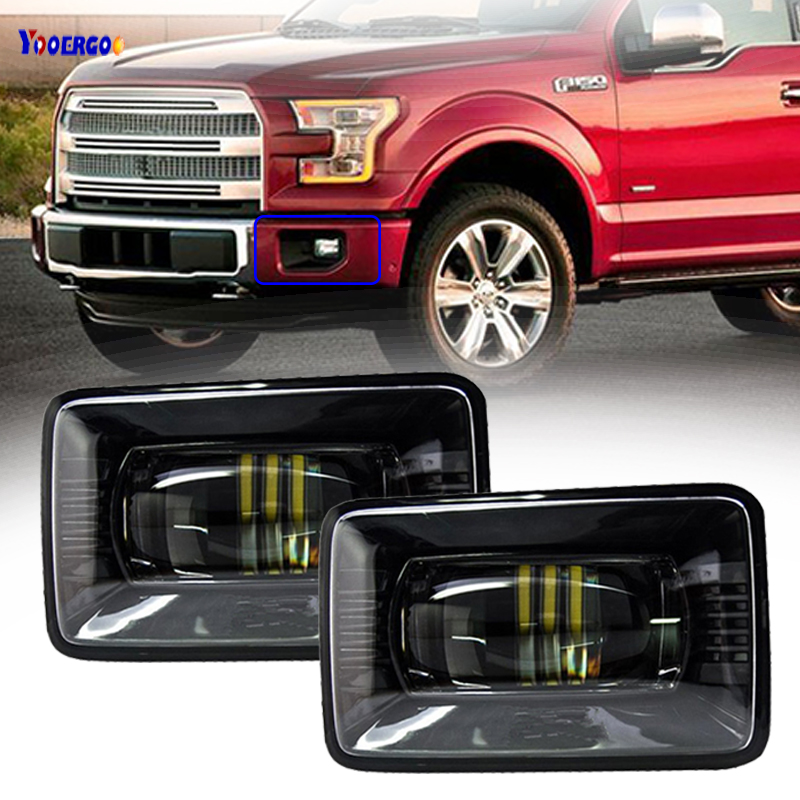 For Ford F150 2015 2016 2017 15W Black IP67 Waterproof LED Fog Lights Lamps Replacement