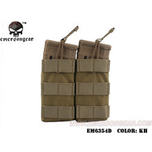 emersongear Emerson Tactical Double 556 Mag Pouch Modular Open Top High Speed Molle Nylon Molle Webbing Mag Pouch For 556 подсумок под магазин tasmanian tiger sgl mag pouch hz bel