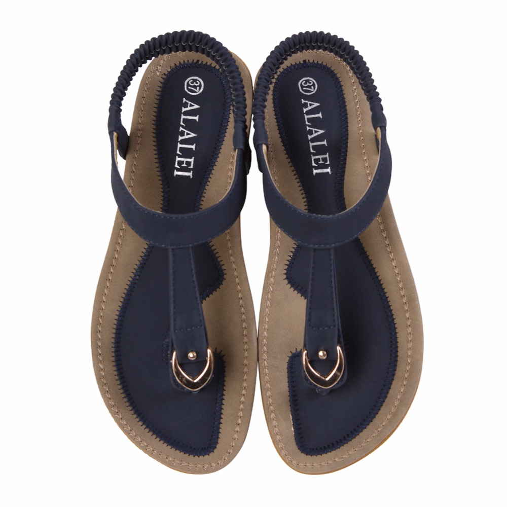 c69ec9eb8a265 Fashion 2018 New Summer Women Shoes Casual Flat Sandals Flip Flops Soft  Comfortable Roma Beach Sandals-in Low Heels from Shoes on Aliexpress.com