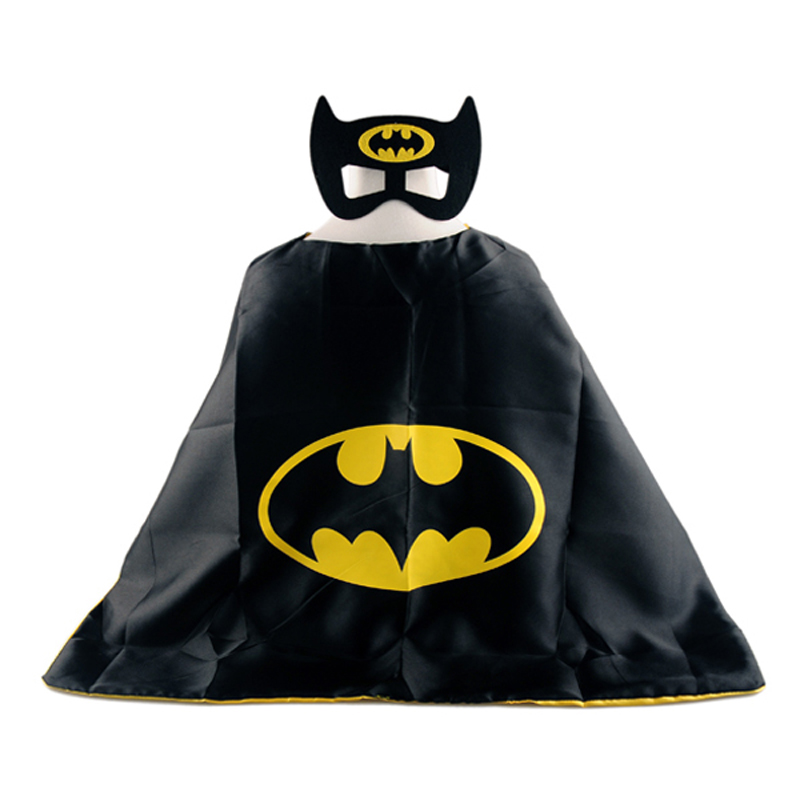 1cape+1mask cloak kids superhero capes boy children superman batman spiderman halloween baby costume cosplay super hero mask цена 2017