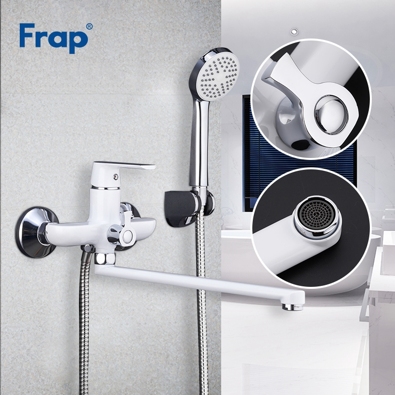 FRAP Shower Faucets torneira bath shower mixer taps brass body surface spray painting color shower head