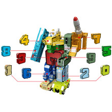 GUDI 10 in 1 Creative Assembling Educational Action Figures Transformation Deformation Robot Plane Car Blocks Toys