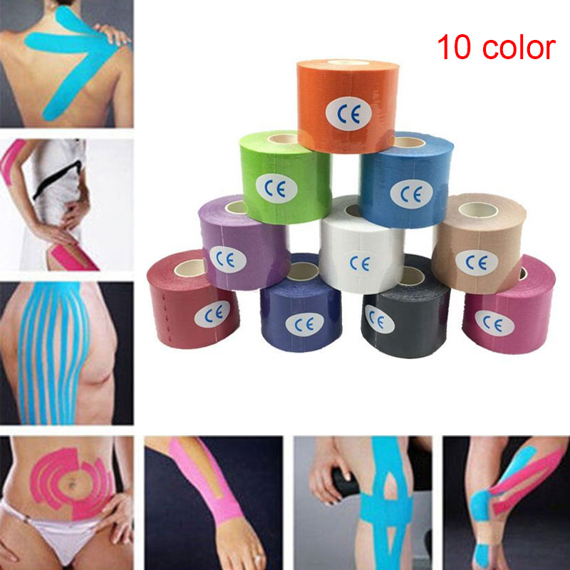 5M Waterproof Sports Elastic Kinesiology Tape Roll Breathable Physio Muscle Strain Injury Support Tool B2Cshop