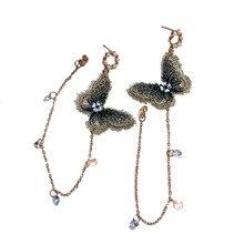 New Arrival Zinc Alloy Trendy Women Butterfly Dangle Temperament Earrings Women's Earrings Long Wholesale Earrings  Accessorie