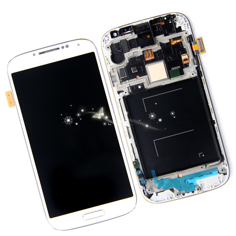 ФОТО New LCD Touch Screen Display Digitiler Assembly For Samsung i9500 S4 i9505 i337 i545 L720 M919 R970 with frame free shipping