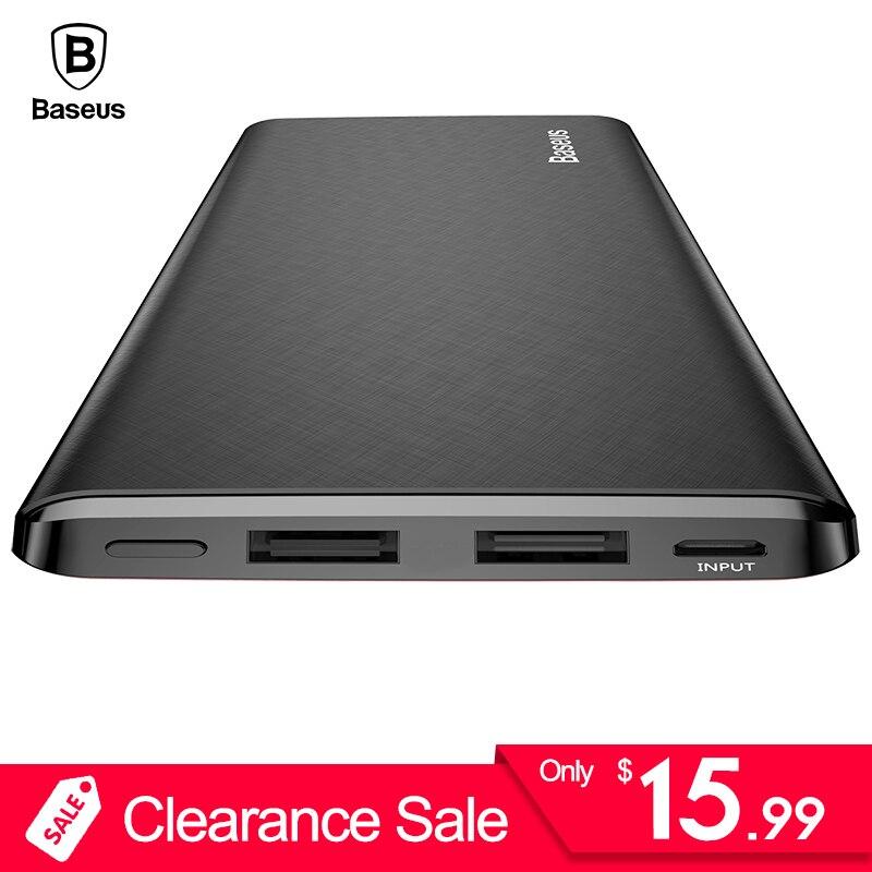 Baseus 10000 mah Power Bank Für iPhone Huawei Xiaomi OnePlus Ultra Slim Power Poverbank Handy Externe Batterie Ladegerät