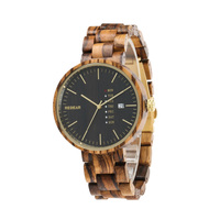 Wood Watches Men Full Wooden Strap Watch With Calendar Luxury Vintage Casual Quartz Wrist Watch For