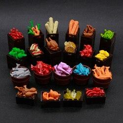 Building Blocks City Accessories Food Pizza Carrot Cherry Banana Fish Basket Hot Dog Fruit Bricks Toy Friends Figures parts bulk