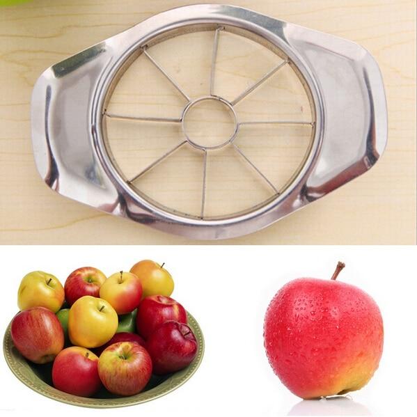 1 개 스테인레스 스틸 과일 필러 디바이더 사과 배 슬라이서 커터 주방 도구 (00126)