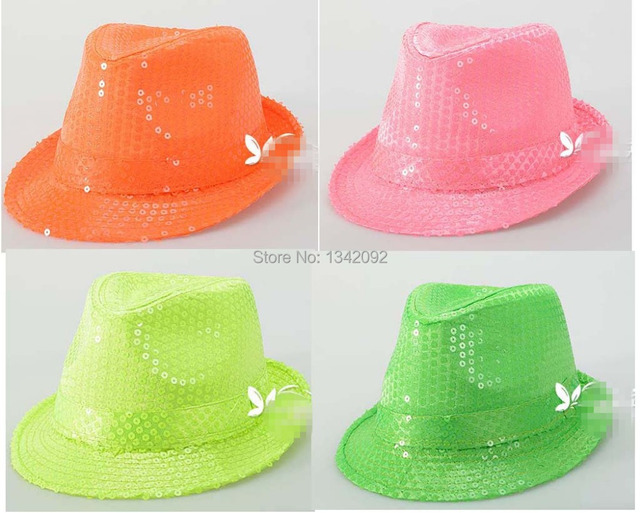 12 unids lote moda mago lentejuelas fluorescentes colores fiesta de baile  de disfraces Jazz del 92789440f0f