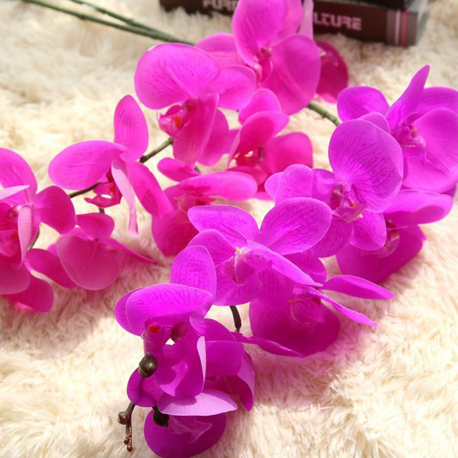 ▻Artificial Silk Fake Flowers Phalaenopsis Wedding Bouquet Party ...
