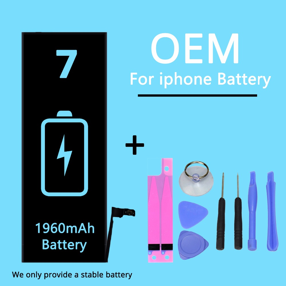 New 7G Cell Phone <font><b>OEM</b></font> Lithium <font><b>Battery</b></font> For IPhone7 0 Cycle 1960 <font><b>Battery</b></font> Capacity + Disassemble <font><b>Battery</b></font> Gift Tool image